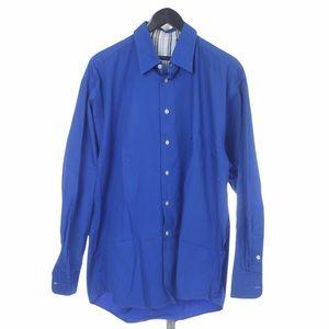 Burberry London Cobalt Blue Dress Shirt L